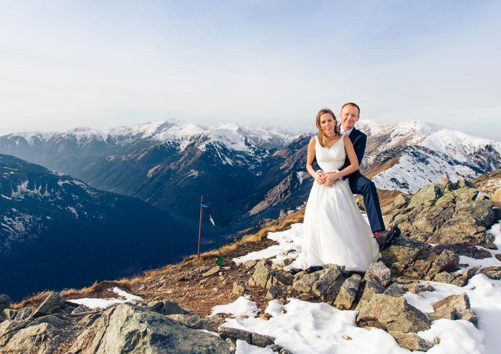 Plener ślubny z Gosią i Adamem na Kasprowym Wierchu i w Dolinie Gąsienicowej